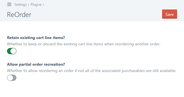 Reorder Screenshot Settings